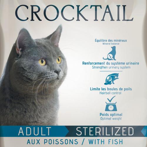 Котешка храна супер премуим клас с живи пробиотици и риба - Flatazor Crocktail Adult Sterilized Fish - 2 кг