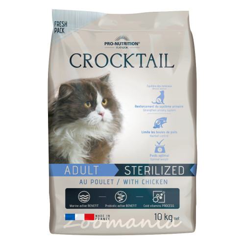 Crocktail Adult Sterilized Chicken - 10 кг
