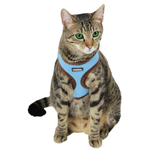 Нагръдник за котки с модерна иновативна кройка Active - син