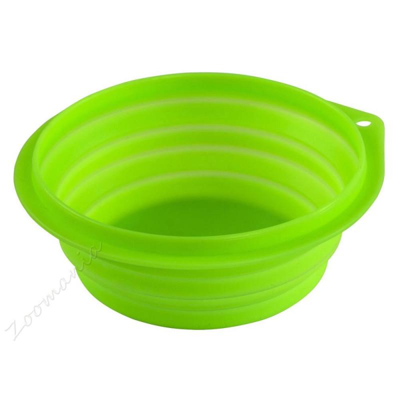 Сгъваема кучешка купа за храна и вода - 1 л