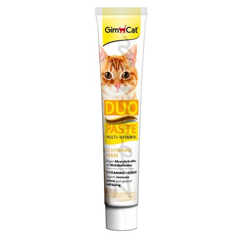 Хранителна добавка за котки със сирене и 12 витамина GimCat Duo Multi-Vitamin + Cheese - 50 гр