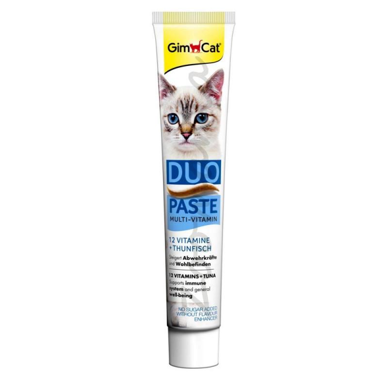 Хранителна добавка за котки с риба тон 12 витамина GimCat Duo Multi-Vitamin + Tuna - 50 гр