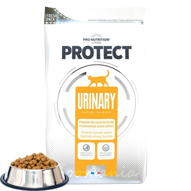Лечебна храна за котки с проблеми в бъбреците и пикочния тракт Flatazor Protect Urinary 1 кг от чувал