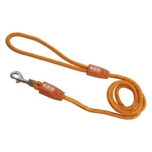 Качествен светлоотразяващ повод повод за куче Бъстър 180см х 8мм - оранжев