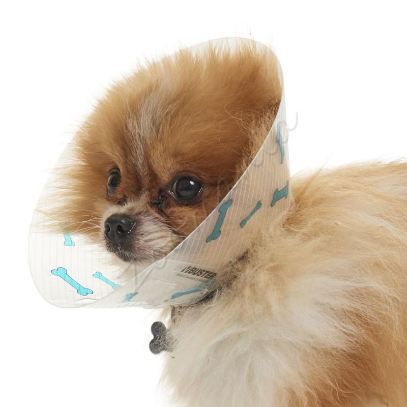 Предпазна яка за кучета Kruuse Buster Design Bones Collar - 7.5см