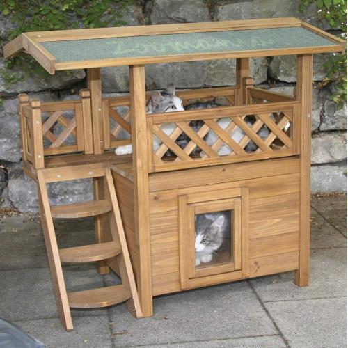 Kerbl Lodge - кокетна котешка къщичка за двора