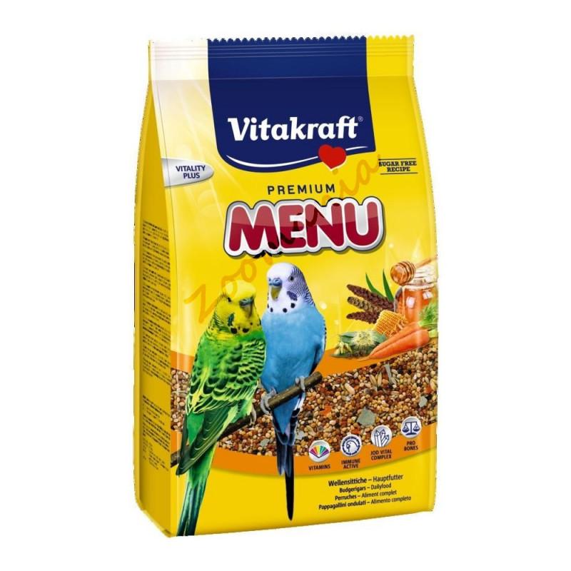 Качествена храна за вълнисти папагалчета - Vitakraft Premium Menu 1 кг