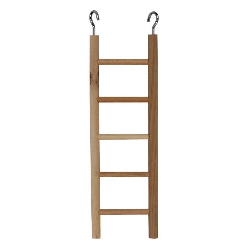 Дървена стълбичка за клетка - 24 см
