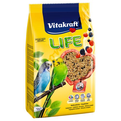 Качествена храна за вълнисти папагалчета Vitakraft Life Power 800 гр
