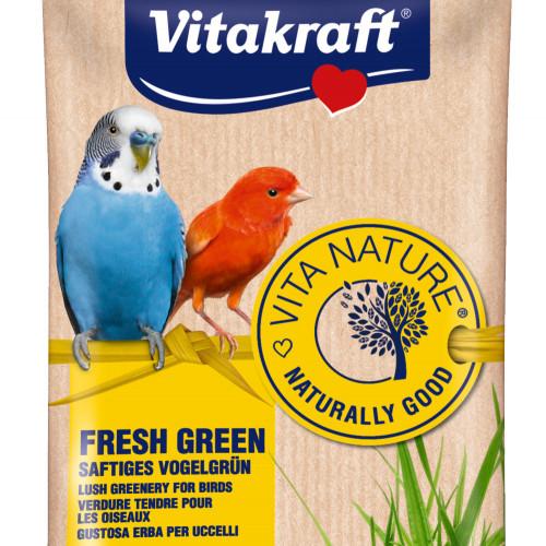 Сочна трева за декоративни птици в клетка Vita Nature® Fresh Green - 40гр