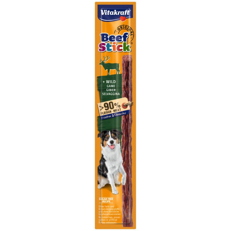 Качествено лакомство за куче с дивеч Vitakraft Beef Stick® Original Wild - 1бр.