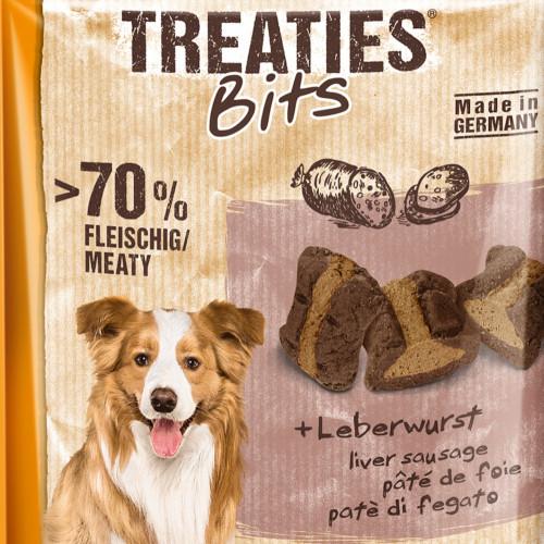 Кучешко лакомство с пастет от черен дроб Treaties® Bits Leberwurst - 120гр
