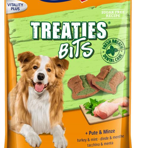 Лакомство за кучета с грижа за зъбите Vitakraft Treaties® Bits Turkey & Mint - 120гр