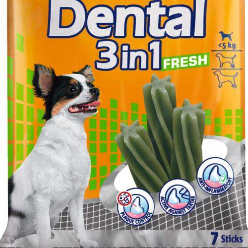 Кучешко лакомство за здрави зъби Vitakraft Dental 3in1 Fresh XS - 7бр.