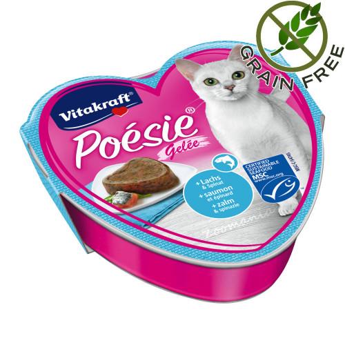 Poésie® Сьомга със спанак в желе - 85гр