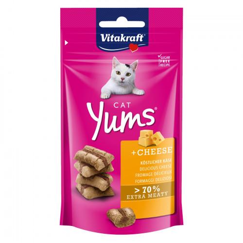 Вкусно лакомство за котки Cat Yums® меки хапчици със сирене - 40гр