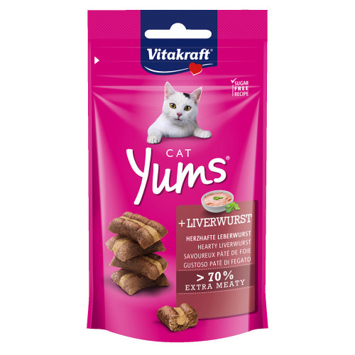 Cat Yums® меки хапчици с лебервурст - 40гр