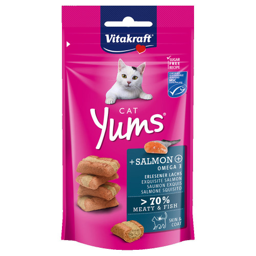 Cat Yums® меки хапчици със сьомга и Ω-3 - 40гр