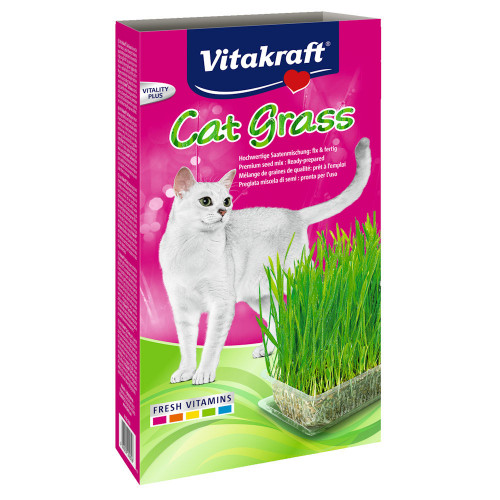 Vitakraft котешка трева със съд