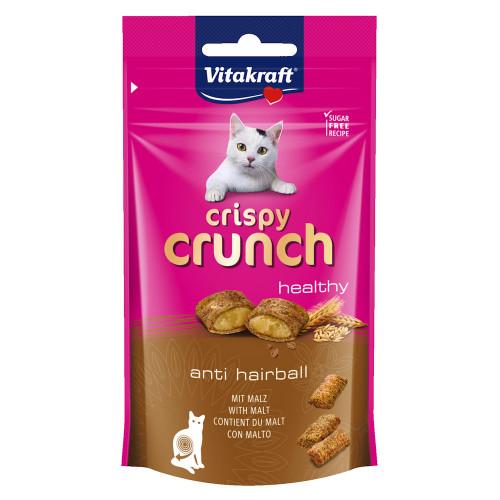 Лакомство за котки за отстраняване на космени топки Vitakraft Crispy Crunch малцови хапки - 60гр