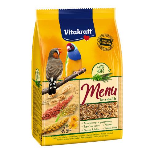 Качествена храна за екзотични птици Vitakraft Premium Menu Exotis - 500гр