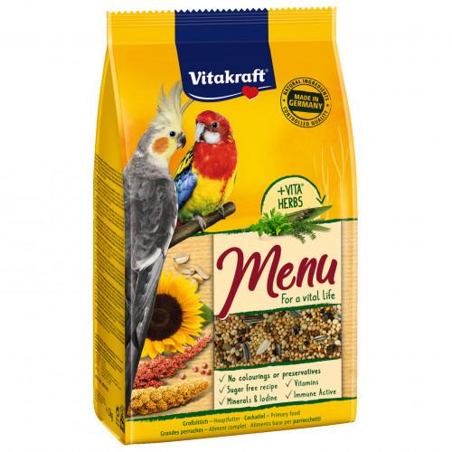 Качествена основна храна за средни папагали Vitakraft Premium Menu - 1кг