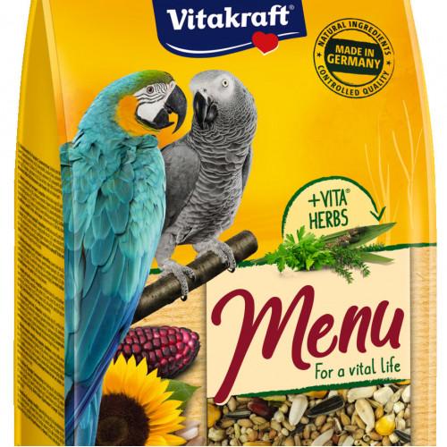 Качествена храна за ара и африкански папагал Vitakraft Premium Menu - 1кг