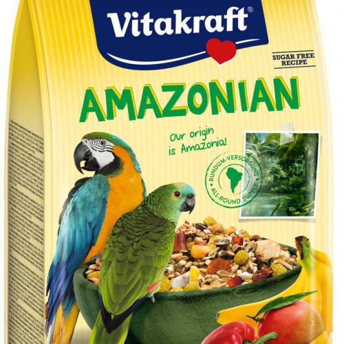 Качествена храна за големи папагали Vitakraft Amazonian - 750гр