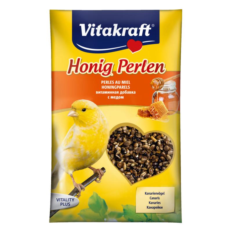 Витамини за канарче с мед Vitakraft Honey Pearls - 20гр