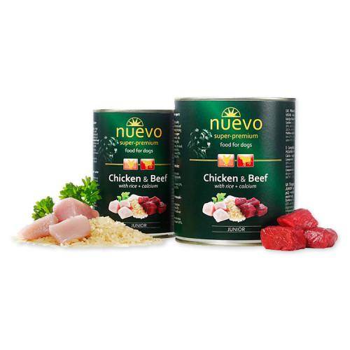 Nuevo Junior Chicken & Beef - консерва за кученца