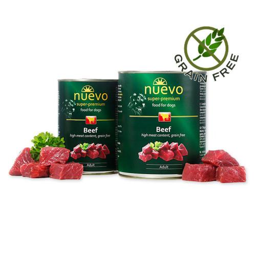 Nuevo Adult Beef - консерва за кучета с говеждо. Супер премиум качество.