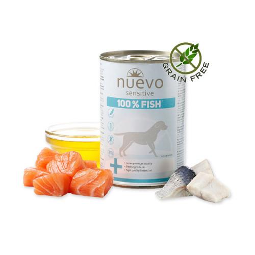 Nuevo Dog Sensitive 100% Fish - консерва за кучета. Монопротеин. Ултра премиум качество!