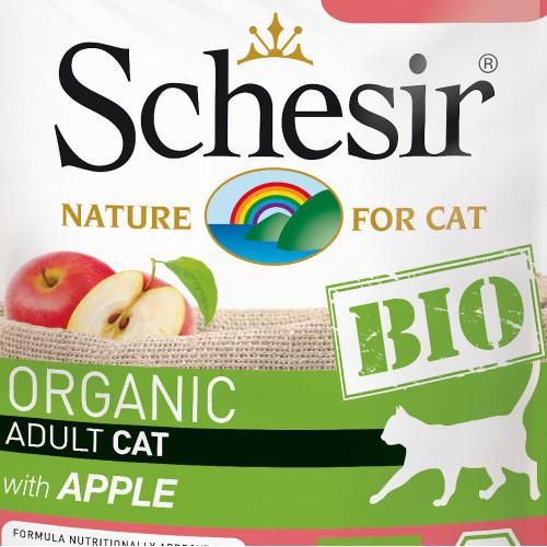 Schesir Cat Bio Chicken & Beef with Apple - сертифицирана органична храна за котки. Ултра премиум качество!