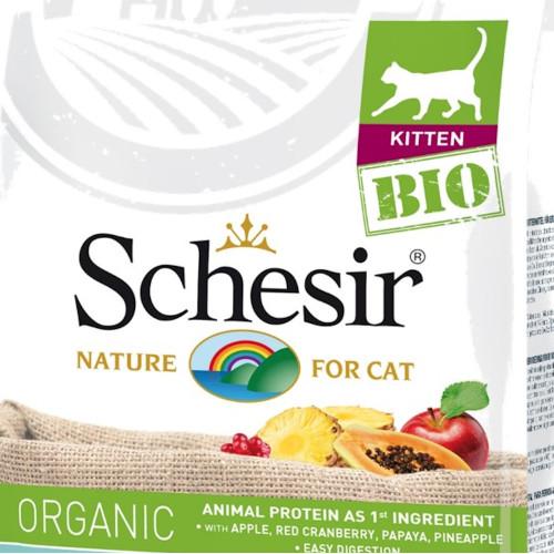 Schesir Kitten Bio - сертифицирана био храна за отбити котенца. Супер премиум качество!
