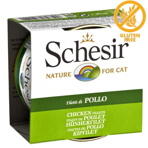 Schesir Cat Chicken Fillets - консерва за котки 85 гр