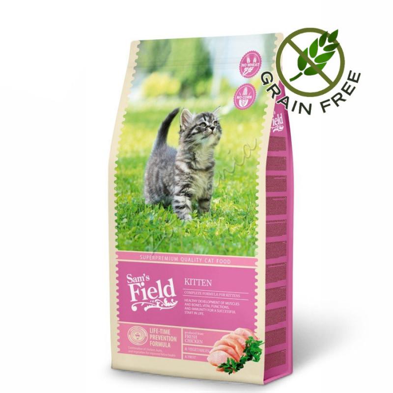 "Grain Free храна за котенца със супер премиум качество Sam's Field Kitten"" - 7.5 кг"