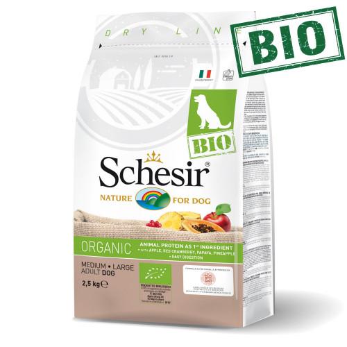 Schesir Dog Bio Chicken - суха био храна за кучета от средни и големи породи. Супер премиум качество!