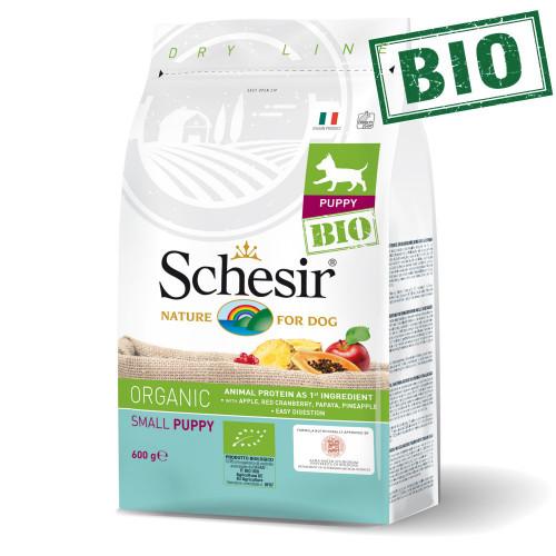 Schesir Puppy Bio Chicken - суха био храна за кученца от мини и салонни породи. Супер премиум качество!