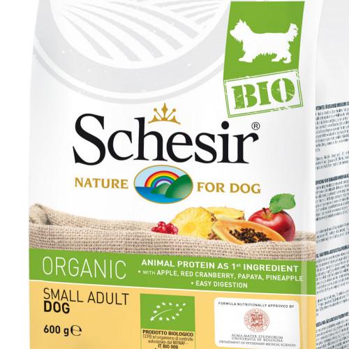 Schesir Dog Bio Chicken - органична храна за кучета от салонни и мини породи. Супер премиум качество!