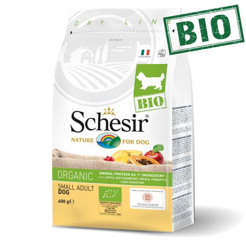 Schesir Dog Bio Chicken - суха био храна за кучета от салонни и мини породи. Супер премиум качество!