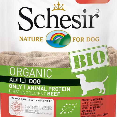 Schesir Dog Bio Beef - органична храна за кучета с говеждо. Ултра премиум качество!
