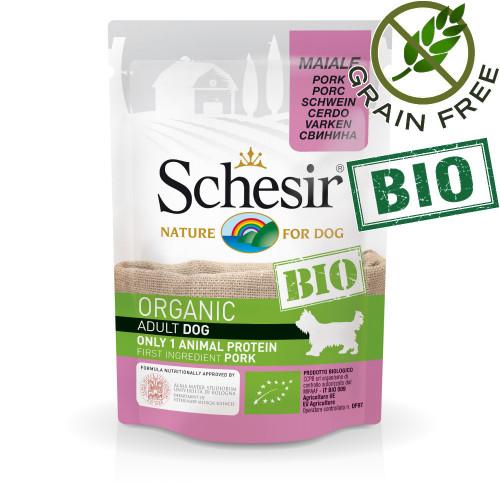 Schesir Dog Bio Pork - био пастет за кучета със свинско месо. Ултра премиум качество!