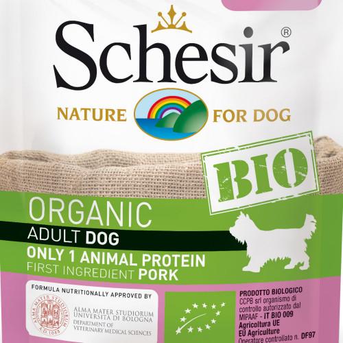 Schesir Dog Bio Pork - органична храна за кучета със свинско месо. Ултра премиум качество!