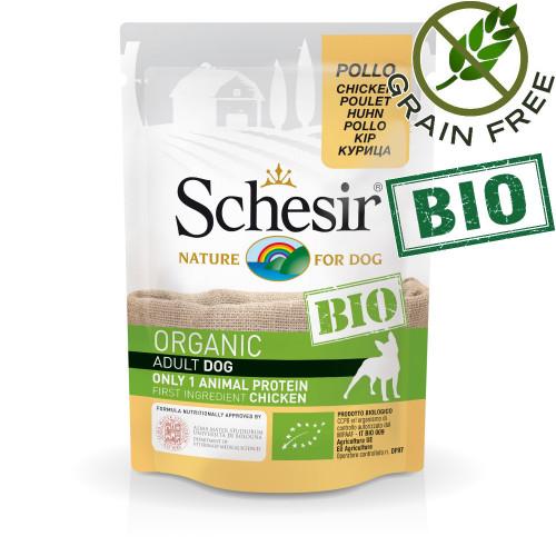 Schesir Dog Bio Chicken - био пастет за кучета с пилешко месо. Ултра премиум качество!