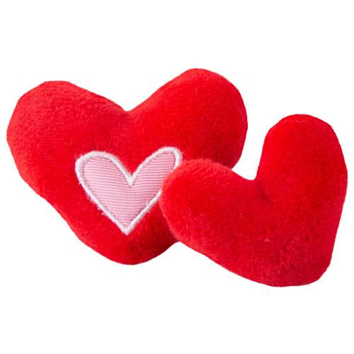 Червени сърчица Rogz Catnip Hearts - супер играчка за котки
