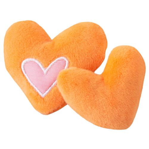 Оранжеви сърчица Rogz Catnip Hearts - супер играчка за котки