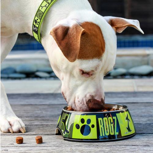 Кучешка купичка за храна и вода Rogz Bubble Bowlz - колекция Lime Juice