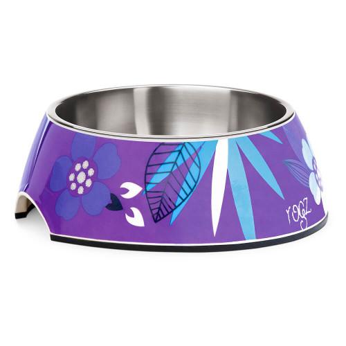 Кучешка паничка за храна и вода Rogz Bubble Bowlz - колекция Purple Forest