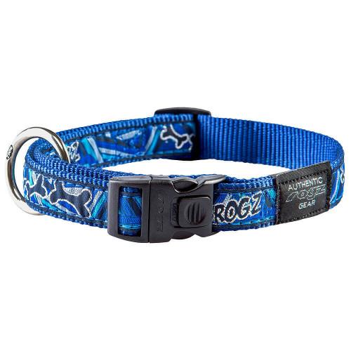 Класически кучешки нашийник Rogz Classic Collar - модна колекция Navy Zen