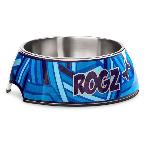 Кучешка паничка за храна и вода Rogz Bubble Bowlz - колекция Navy Zen